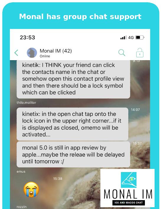 Monal Group Chat (MUC)