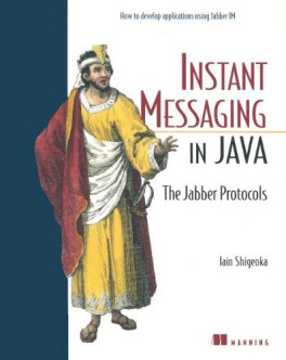 Cover: Instant Messaging in Java: The Jabber Protocols